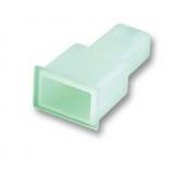 Flachstecker    Isolation            Kunststoff    Klar    6,3mm