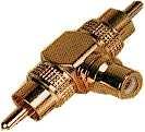 Cinchadapter    1x    Buchse    ->2x    Stecker    vergoldet