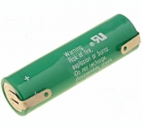 Batterie    Lithium    3V            AA    2000mAh    mit    Lötfahnen
