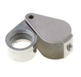 Lupe    klappbar    Metall                    Vergrösserung    x6    incl.    Et