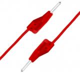 Messleitung    2x    2mm                            Stecker    rot    50cm