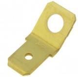 Erdungsstecker    6,3mm                    schraubbar    Messing