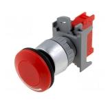 Sicherheitsnotschalter     230V  3A rastend  DM22mm    rot