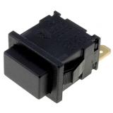 Druckschalter    1pol.                        19,2x12,9    12A    250VAC    schw