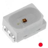 LED SMD  Rot  3800mcd 120° 2,6V 150mA  PLCC2