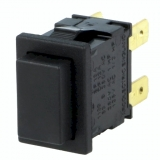 Druckschalter    2pol.                        19,2x12,9    12A    250VAC    schw