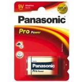 Batterie    9V                                                        Panasonic    Alkali    Pro    Powe
