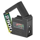 Batterietester    Aanalog            AA,AAA,C,D,9V    1,5V    Knopfz