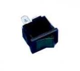 Wippschalter    1pol.EIN    AUS250V/6A    21x15mm    12V-Grün