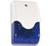 Sirene    f.    Alarmanlage                extern    mit    blauem    Blitzli