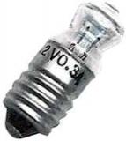 E10    2,2V    300mA    FlachlinseDM=10mm    L=26,5mm    0,66W