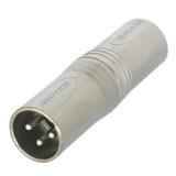XLR    Adapter    XLR-Stecker    -XLR    Stecker    3polig