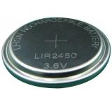 LIR2450    3,6V    120mAh    Akku    Knopfzelle    Lithium