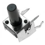 Printtaster    6,0x6,0mm                h=9,5mm    stehend
