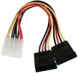 SATA    Adapter    4    1/4->2x        SATA    Buchse    Stromversorg.