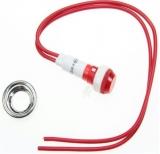Signallampe    230V    rot                    10mm    mit    Kabel    20cm