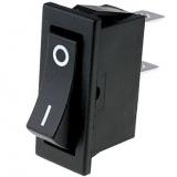 Wippschalter    1pol.EIN    AUS250V/10A    30x11mm    schwarz