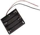 Batteriehalter    4xMicro            flach    mit    Anschlußkabel