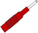 Adapter    2mm    Stecker    auf        4mm    Buchse    rot