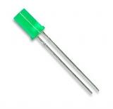LED    5mm    grün    Flachkopf