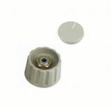 Drehknopf    21x18mm    4mm                Achse    grau    mit    Deckel